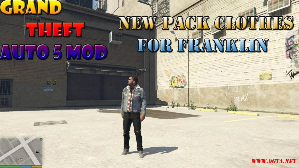 Gucci Yeezy Ripped Clothes Set For Franklin Mod For GTA5