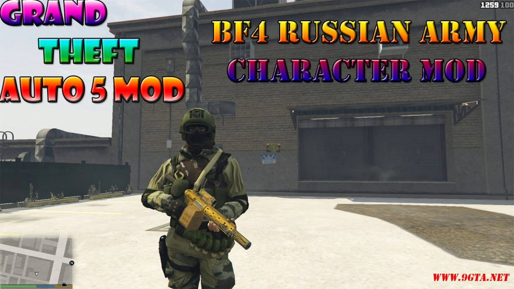 BF4 Russian Army Character Pack Mod For GTA5