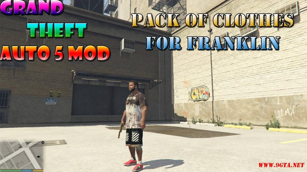 Pack Of Clothes For Franklin Mod For GTA5