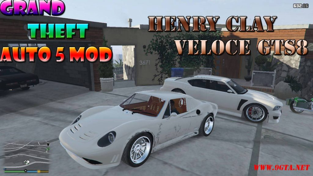 Henry Clay Veloce GTS8 v1.1 Mod For GTA5
